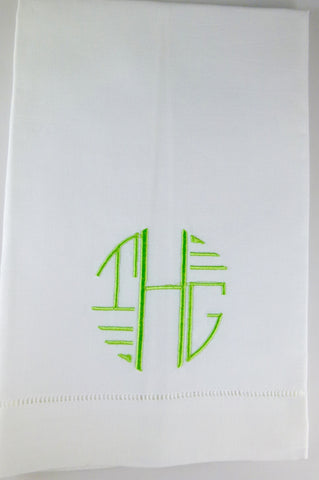 Made to Order Art Deco Font Linen Towel