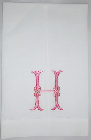 Made to Order Rope Font Linen Hand Towel