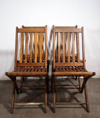Paris MFG Co Fold-Up Wooden Chairs