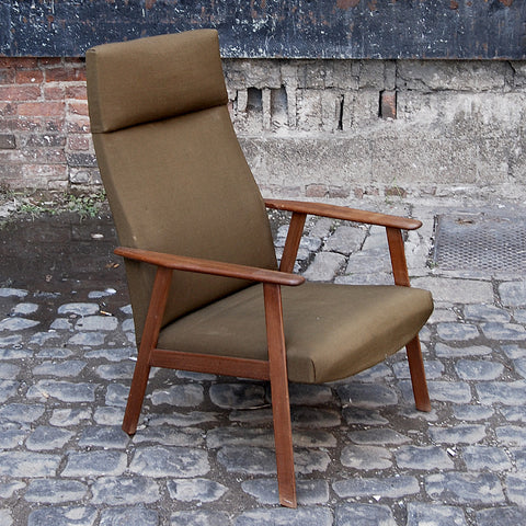 Danish Mid Cent. Green Arm Chair