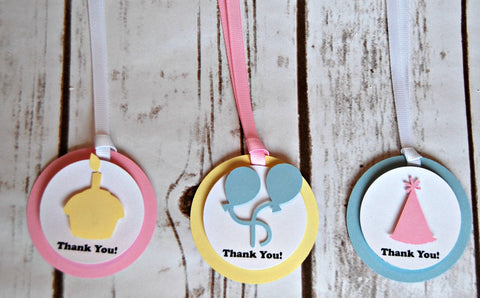 Birthday Basics: Pastels, Favor Tags
