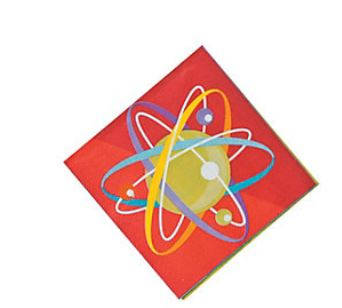 Science Party Beverage Napkins, Paper Napkins, Dessert Towels, Tableware (set of 16)