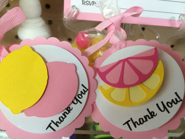 Pink Lemonade Party Favor Tags (set of 12) - We Bring the Party
