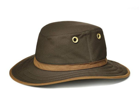 Tilley Outback TWC7 Waxed Cotton Hat in Olive