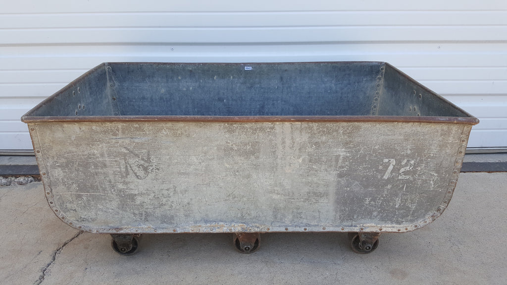Galvanized Container on Wheels