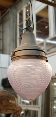 "Industrial ""Pemco"" Light from a Powerstation, Frosted Globe"