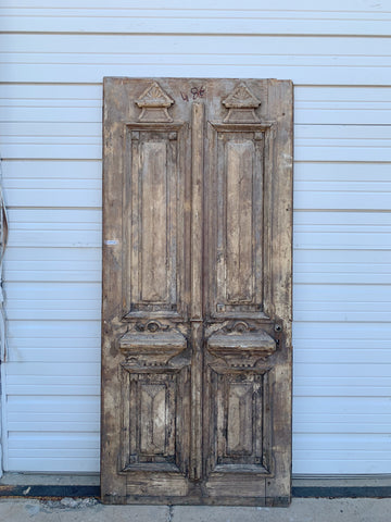 Antique Carved Single Wood Door