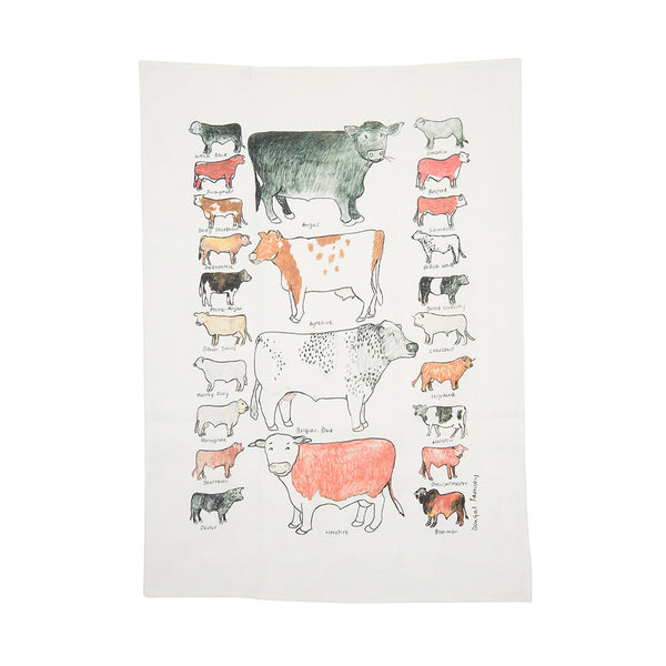 Tea Towel - Cows