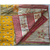Hand-Stitched Kantha Throw - The Fox and The Mermaid