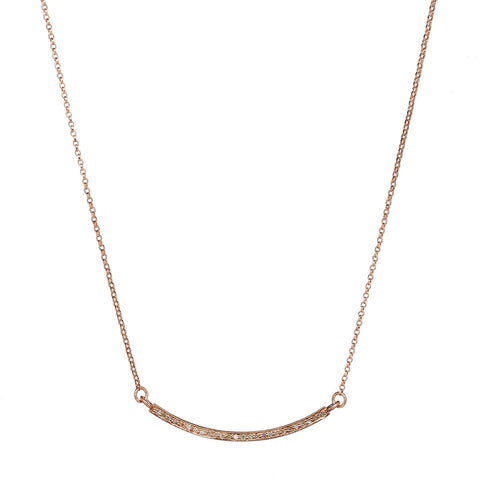 "Pavé Diamond Rose Gold-filled 18"" Necklace"