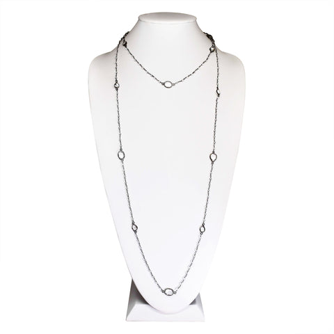Clear Quartz Double strand Sterling Silver Necklace
