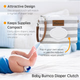 Gray Diaper Clutch + Gray Mini Diaper Cream Brush