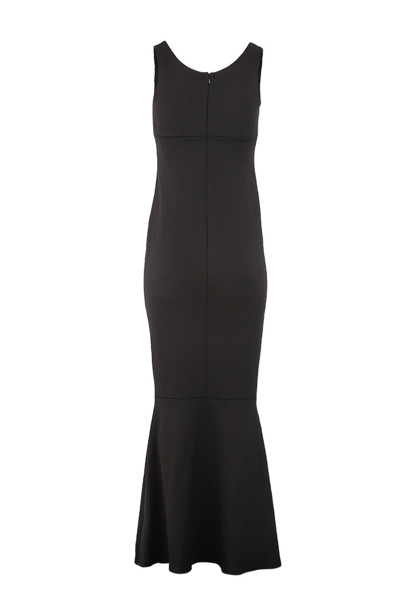 Black | Fishtail Maxi Dress