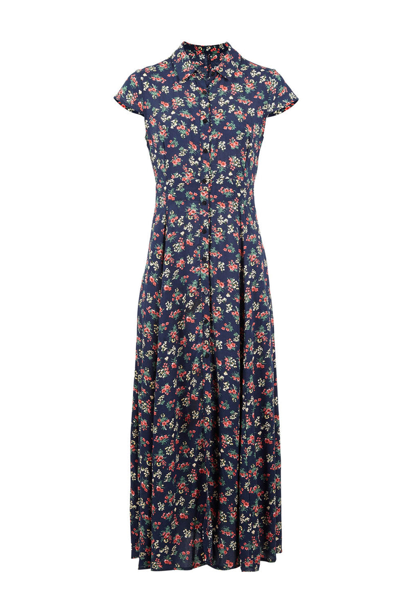 Navy | Ditsy Floral Maxi Dress