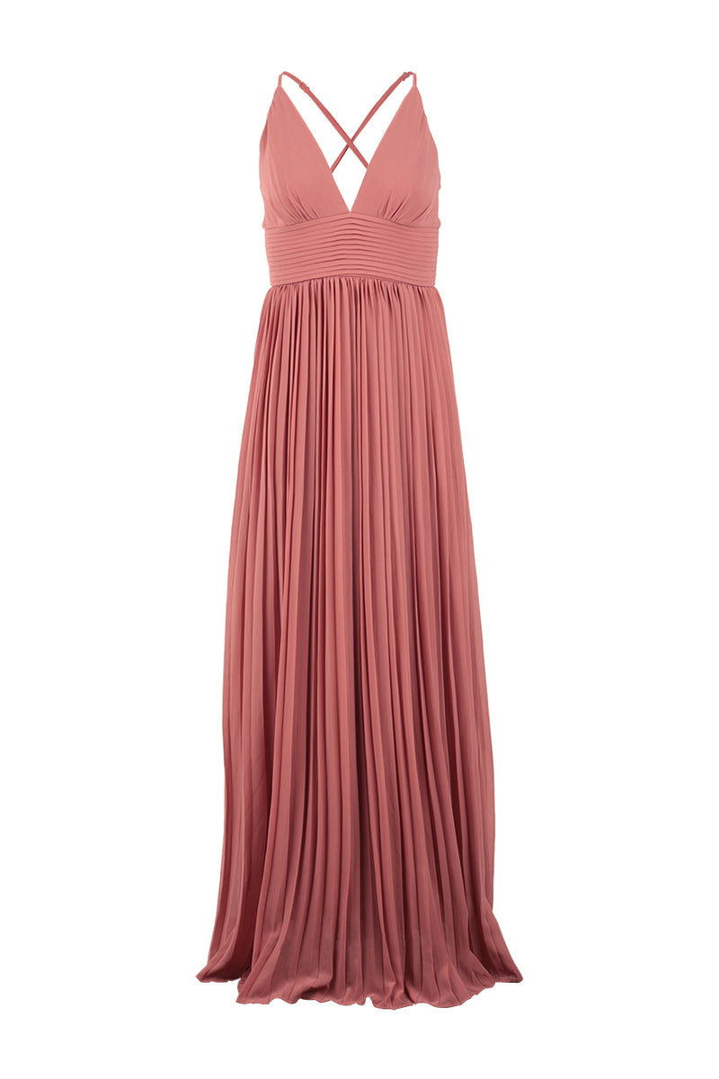 Pink | Halterneck Grecian Maxi Dress