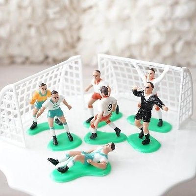 Soccer Team Birthday Cake Topper Players and Goals Cleats Ball- Le Petit Pain