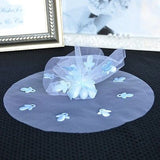 "10 Blue Round Tulle Gift Wrap with Pacifier 9"" Favor Bag Baby Shower - le petit pain"
