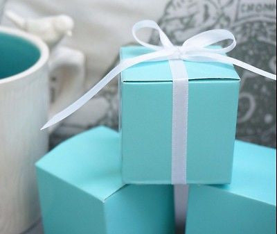 10 Robin Egg Blue Mint Aqua Blue Wedding Favor Gift Boxes Baby Shower Turquoise - le petit pain