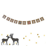Buck or Doe Gender Reveal Garland Baby Shower Banner Boy or Girl Pregnancy Party- Le Petit Pain