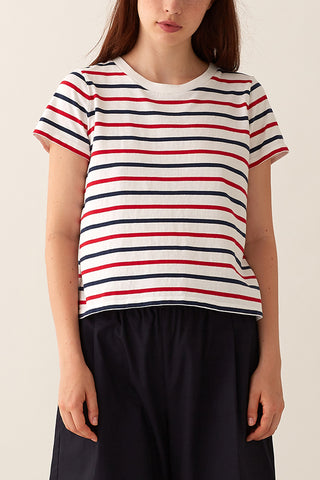 Jaime Box Tee - Multi Stripe