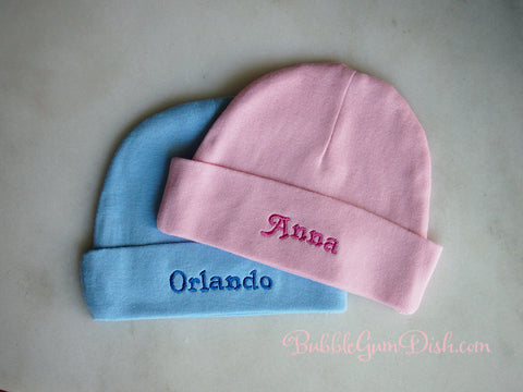 Personalized Baby Hat with Custom Embroidery Baby Name