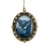 Binx 6 - Black Cat Pendant Necklace