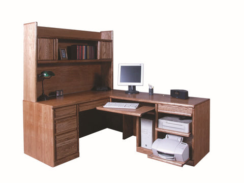 Forest Designs Bullnose Hutch for 1050 Desk Portion: 66w x 42H x 13D (Desk and Return Sold Separately-$1,999)