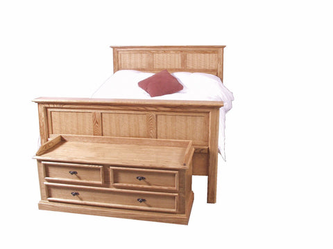 Forest Designs Mission Oak Panel Bed (No Chest)