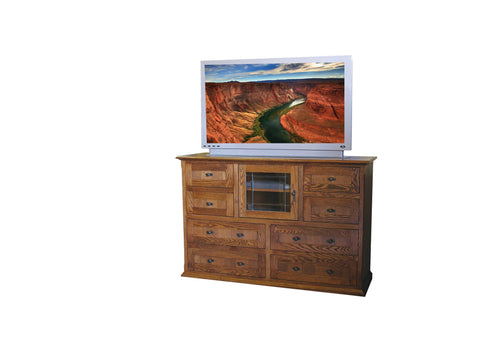 Forest Designs Mission Entertainment Chest: 60W x 41H x 18D