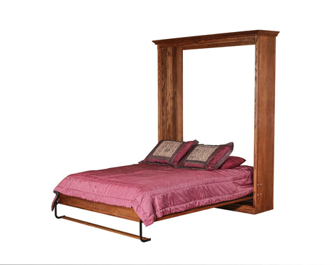 Forest Designs Mission Murphy Bed (Shown in Queen in Open Position) : 73W X 92H X 15D/ Bed Extends 89 From Wall