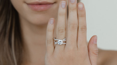 The Criss Cross Engagement Ring