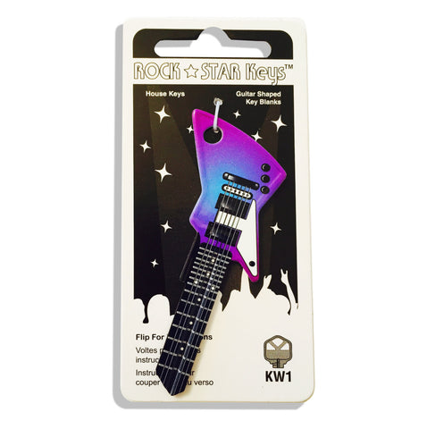 NEW - Purple Rain EXP Guitar Shaped Rock Star Key