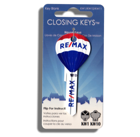 25 Pcs. RE/MAX Hot Air Balloon Shaped Keys - Updated RE/MAX finish