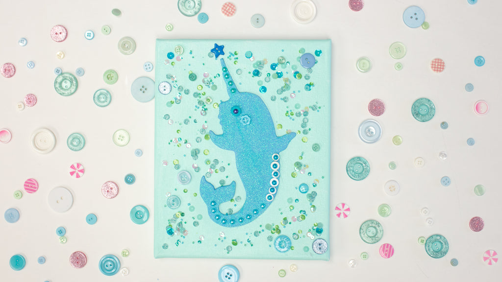 Narwhal Wall Art for a Kids Room