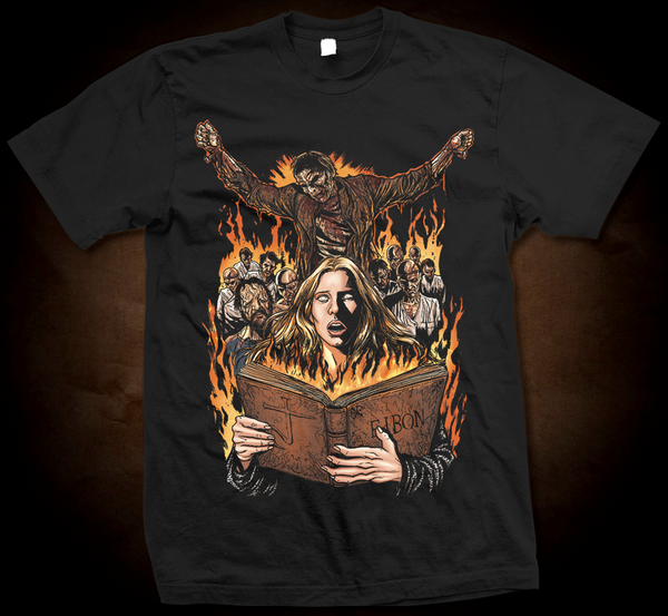 Official Grindhouse Line: The Beyond: Book Of Eibon - Gildan Soft 4.5 Ounce T-Shirt