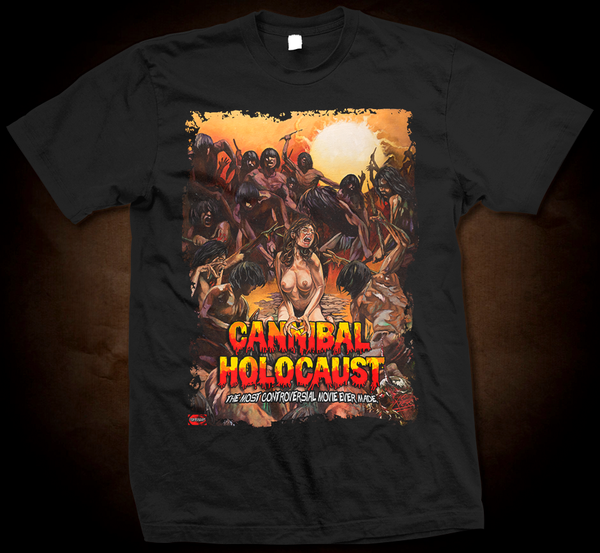 Official Grindhouse Line: Cannibal Holocaust - Design A - Gildan Thick 6 oz T-Shirt