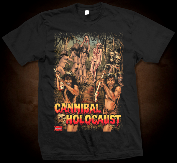 Official Grindhouse Line: Cannibal Holocaust B - Gildan Soft 4.5 Ounce T-Shirt