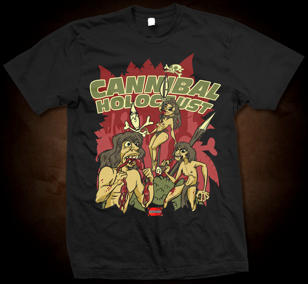 Official Grindhouse Line: Cannibal Holocaust Cartoon - Gildan Soft 4.5 Ounce T-Shirt