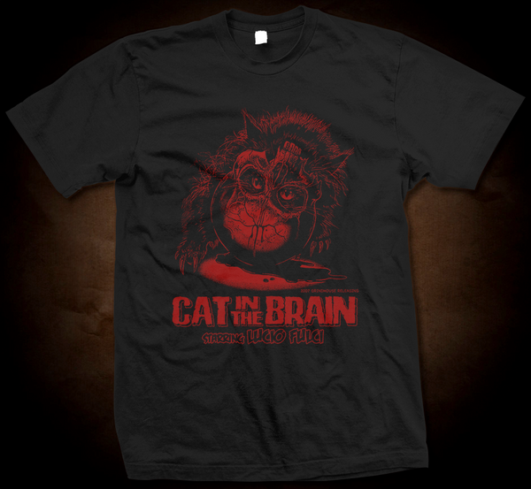 Official Grindhouse Line: Cat In The Brain - Gildan Soft 4.5 Ounce T-Shirt