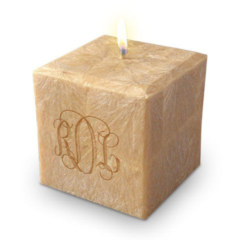 "Monogrammed Candle, 3"" Square"