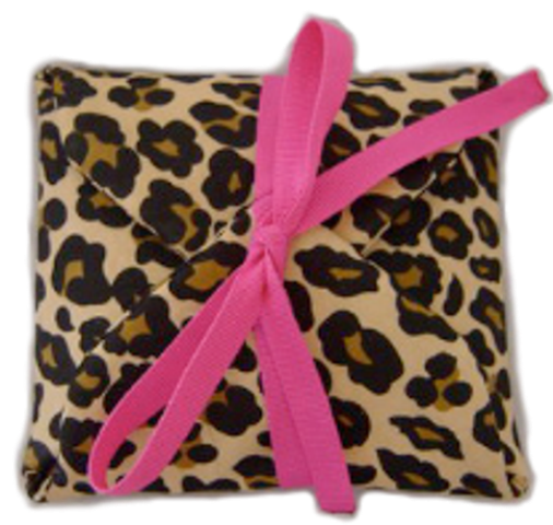 Leopard & Pink Travel Jewelry Pouch