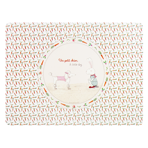 ASHDENE Placemat Ruby Red Shoes Petit Chien - Houzethat - 1