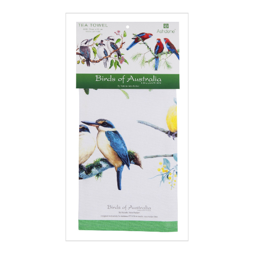 ASHDENE Tea Towel Birds of Australia Mixed