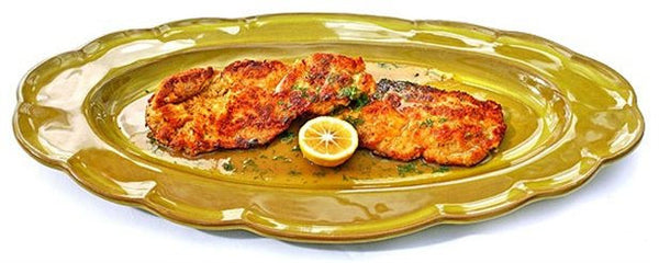 Beef Schnitzel with Lemon Dill Dressing