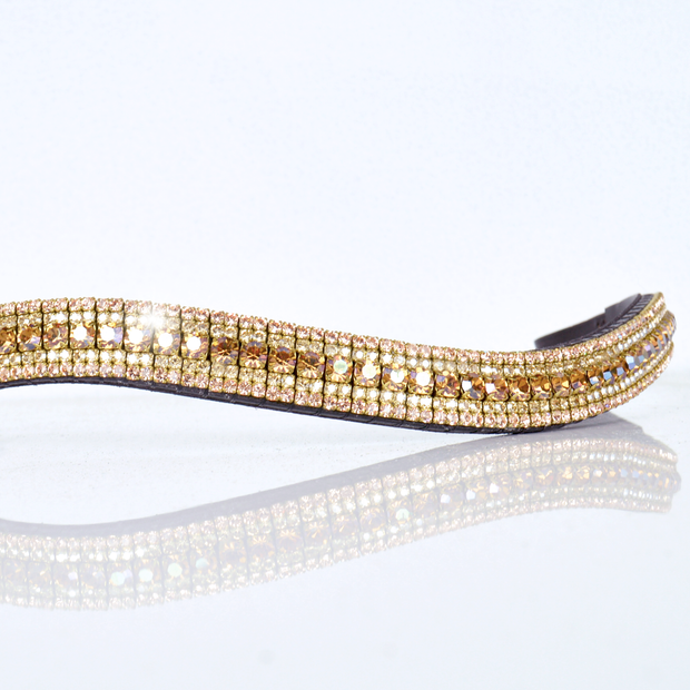 Crystal Copper, Crystal and Crystal Golden Shadow Megabling Browband