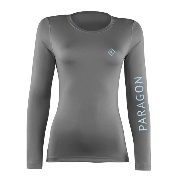 Luxe Sport Base Layer - Grey/Ice Blue