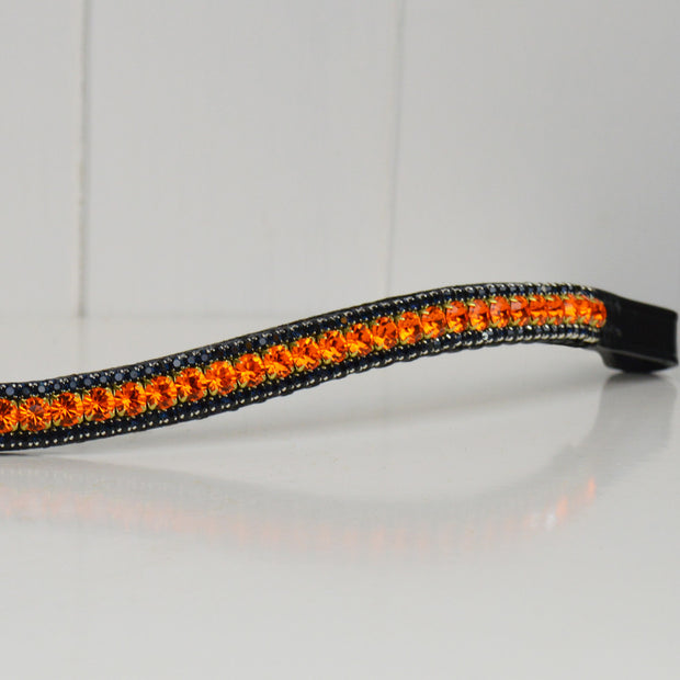 orange and navy crystal browband