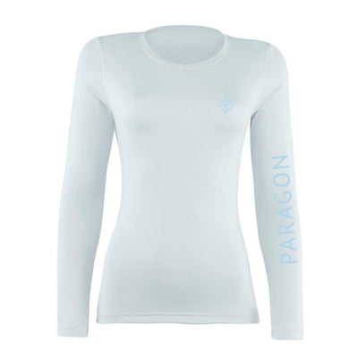 Luxe Sport Base Layer - White/Ice Blue