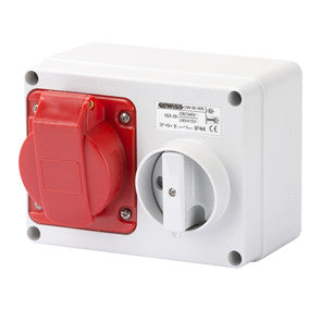 GEWISS INTERLOCKED HORIZONTAL SOCKET-OUTLET - 3P+N+E 16A 400V - IP44