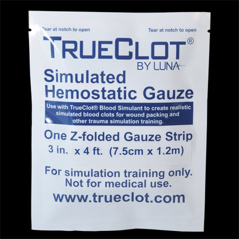 TrueClot® Simulated Hemostatic Gauze - 4ft. Z-folded Single pack (Item # 5124)